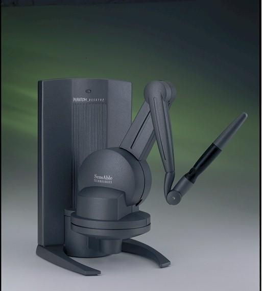 Dispositivo aptico PhantomDesktopdi SensAble Technologies.