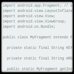 Android Fragment Generator