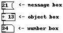 Semplice esempio di patch per Pure Data.