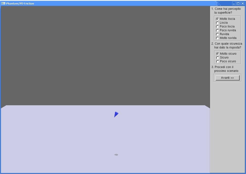 L'interfaccia grafica dell'applicazione
