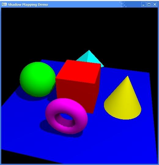 Esempio di applicazione dello shadow mapping.